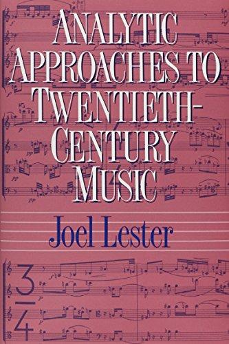 Analytic Approaches to Twentieth-Century Music