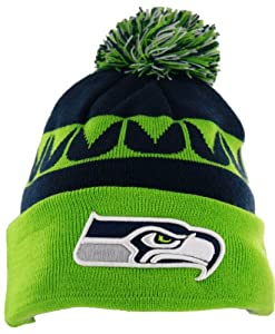 Seattle Seahawks On-Field Sport Knit Hat with Pom
