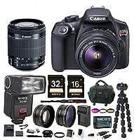 Canon T6 EOS Rebel DSLR Camera w/ EF-S 18-55mm IS II Lens & Zoom TTL Flash Gun Bundle