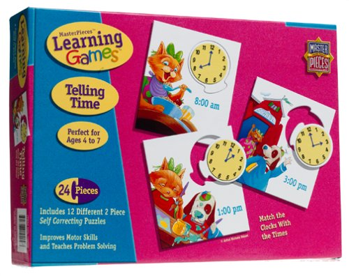Telling Time Learning Game Jigsaw Puzzle 24pc