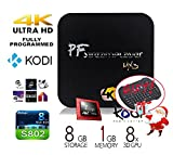 [The BEST Christmas GIFT!] PigflyTech® MX3 MXIII Quad Core Android TV BOX & Mini PC and Game play station Pre-LOADED KODI 14.2 (XBMC) 4K/HD Streaming Media Player Amlogic S802 CPU! Full Loaded KODI!!!