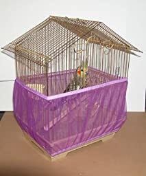 Sheer Guard Bird Cage Skirt - Large (Purple)