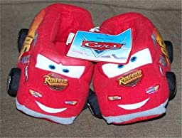 Disney Pixar\'s Cars Shoe Size 11/12 the Movie Lightning Mcqueen Boys Red Slippers
