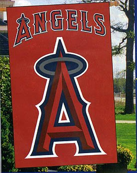 Los Angelos Angels Applique House Banner Flag - Buy Los Angelos Angels Applique House Banner Flag - Purchase Los Angelos Angels Applique House Banner Flag (The Party Animal, Home & Garden,Categories,Patio Lawn & Garden,Outdoor Decor,Banners & Flags,Sports Flags & Banners)