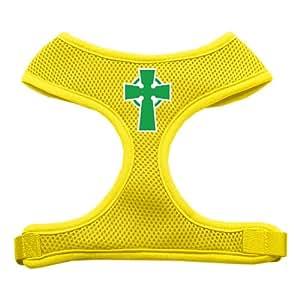 Celtic Cross SPSoft Mesh Dog Harness Yellow Medium