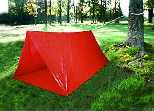 8-Foot Lightweight Emergency Tube Pup Tent Camping Backpacking Survival