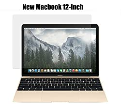 MacBook Retina 12 inch Screen Protector Guard,LCD Transparent Screen Protector Guard For MacBook 12 - inch with Retina Display Screen Protector Guard + Get Mini USB LED Light FREE