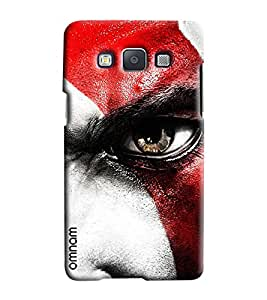 Omnam Boy With Closeup Eye Effect Printed Designer Back Cover Case For Samsung Galaxy E5