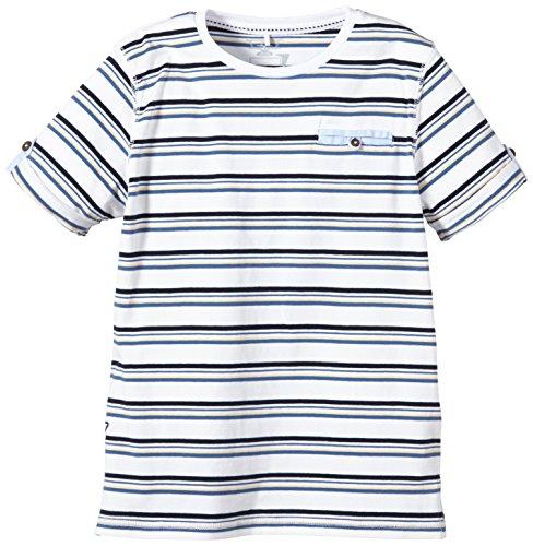 NAME IT - Hasmus Kids Ss Top 215, T-shirt per bambini e ragazzi, multicolore (apricot ice), 134 (Taglia produttore: 134-140)