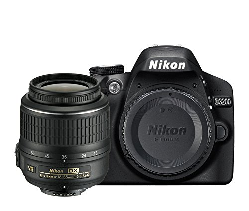 Nikon D3200 Digital SLR with 18-55mm VR II Compact Lens Kit - Black (24.2 MP) 3.0 inch LCD