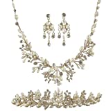 Hermia Wedding Jewellery Set (Gold Plated) (e32092setg)