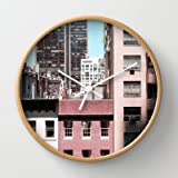 Society6 - View Of Nyc From A Moma Window... Wall Clock by Chernobylbob