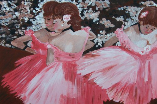 Edgar Degas' DANCERS IN PINK Paint Kit