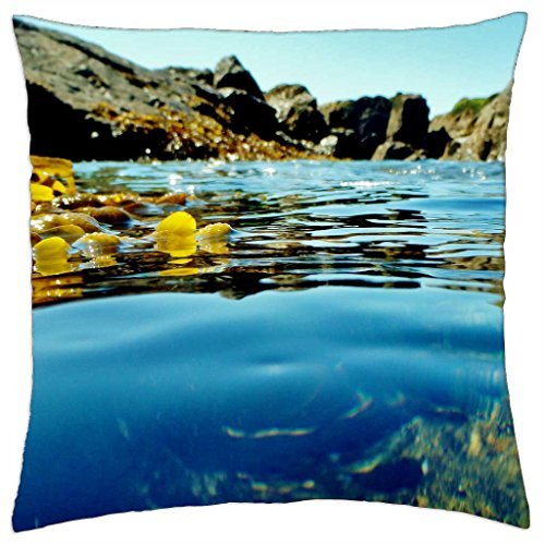 Underwater Rock Pool Tropical Island - Throw Pillow Cover Case (18
