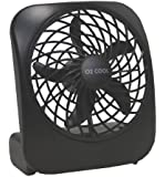Portable Battery-Operated Fan in BLACK, 5 In