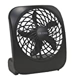 Portable Battery-Operated Fan (Black)