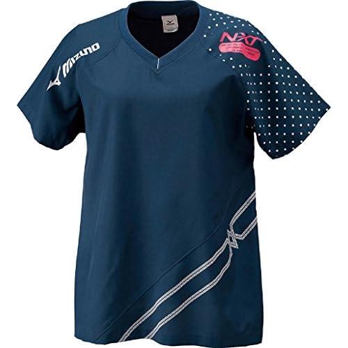 (ミズノ)MIZUNO クロスシャツ V2JC4221 80 ネイビー×シルバー O