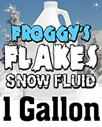1 Gal - DRY Snow Juice Fluid - Low Residue Snow Machine Flakes by Froggy's Fog