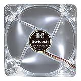 オウルテック PCケース用オリジナルLEDファン 14cm 25mm厚 950rpm 超静音 リブ有り  ホワイト OWL-FY1425S2WH