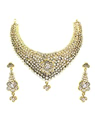 FLORAL NECKLACE SET BY ZAVERI PEARLS - B00QI73QZU