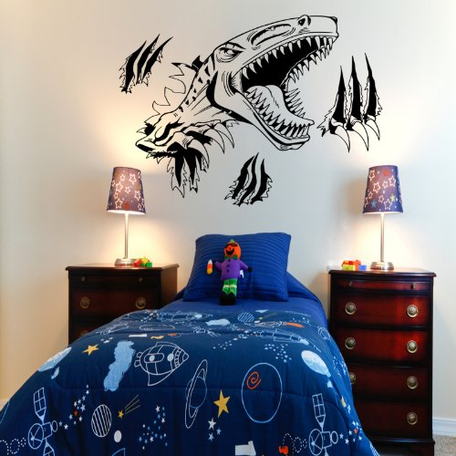 T Rex Dinosaur Wall Sticker Vinyl Decal (Black) front-266230
