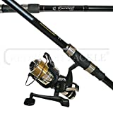 OAKWOOD Carp/Pike Combo 2.75tc Rod & Single Bait Runner Reel With Line Fishing