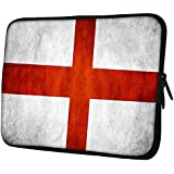"Snoogg England Flag 15"" 15.5"" 15.6"" Inch Laptop Notebook Slipcase Sleeve Soft Case Carrying Case For Macbook Pro Acer Asus Dell Hp Sony Toshiba"