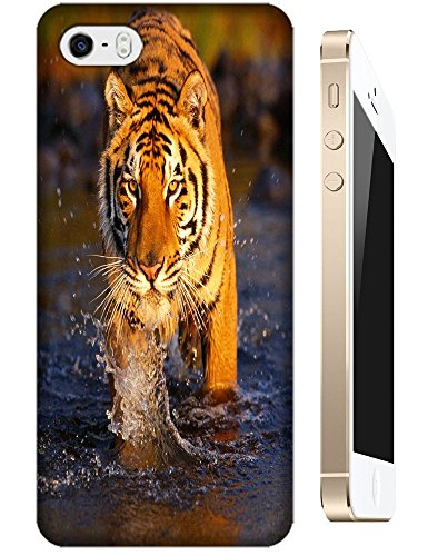 Lovely Power Tigers Cases Covers Phone Hard Back Cases Beautiful Nice Cute Animal Hot Selling Cell Phone Cases For Apple Accessories Iphone 5/5S # 18