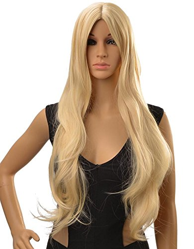 DAYISS Women's Long Slightly Curly Wavy Full Wig Cosplay Costume Party