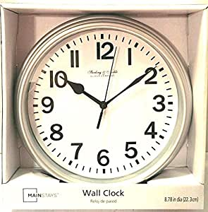 Sterling Noble Wall Clock Silver Home Kitchen