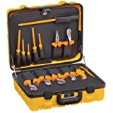 Klein Tools 33525 Insulated Utility Tool Kit, 1000-Volt Rated, Comes in Custom 2-Pallet Lockable Case, 13-Piece (Color: Orange)