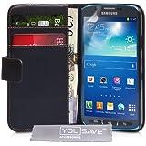 Samsung Galaxy S4 Active Tasche Schwarz PU Leder Brieftasche H�lle