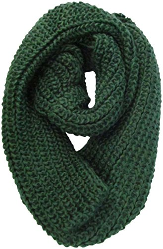 J.Ann Women'S Winter Knit Infinity Circle Scarf - Different Colors, Dark Green