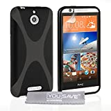 Yousave Accessories HTC Desire 510 Case Black Silicone X-Line Cover