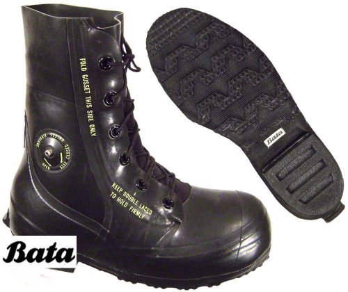 US Military Bata ECW Mickey Mouse Boots w/ Valve Arctic Extreme Cold Weather -20° Color Black 9 Regular