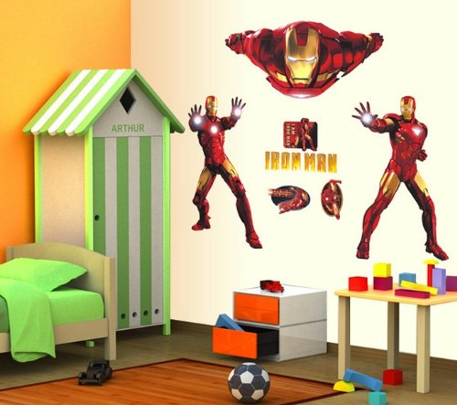 Iron Man Wall Sticker Removable Nursery Decal Boy Girl Baby Room Decor