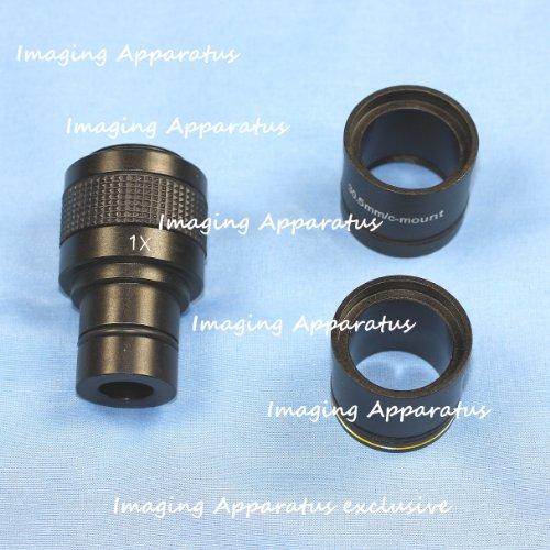 1X Microscope Digital Camera Relay Lens W/ 3X Adapters