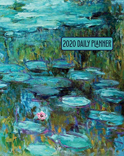 2020 Daily Planner Claude Monet Water Lilies Art Cover Full page a day and schedule at a glance. Inspirational quotes keep you focused on goals, ... organize your busy life! (Art Lovers Planner) [Press, New Nomads] (Tapa Blanda)