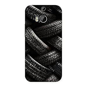 Delighted Knot Tyre Back Case Cover for HTC One M8