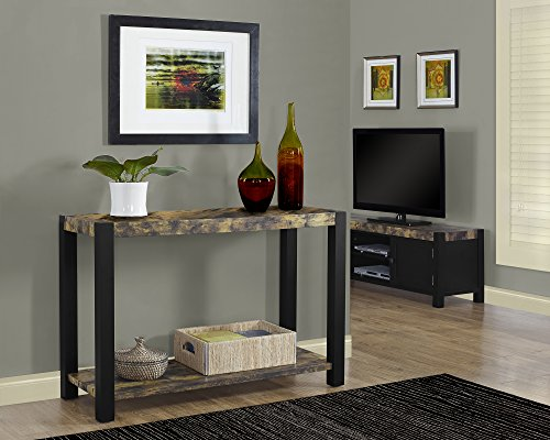 Monarch Specialties Distressed Reclaimed-Look/Black Console Table, 48-Inch (Reclaimed Wood Console Table compare prices)
