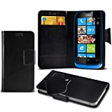Nokia Lumia 610 Choose from Protective Mega Thin Faux Leather Suction Pad Wallet Case Cover Skin With Credit/Debit Card Slots Variour Colours By Aventus