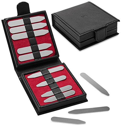 12-er-herren-metall-silber-kragenstabchen-leder-geschenkbox-5cm-63cm-und-7cm-von-puentes-denver