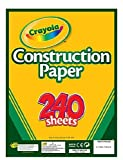 Crayola Construction Paper, Assorted Colors, 240 Sheet (99-3200)(Discontinued by manufacturer)