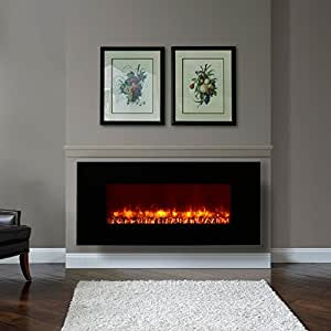 Dynasty Contemporary Electric Fireplace Led Wall Mount In Outdoor