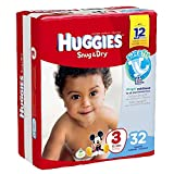 Huggies Baby Diapers, Snug & Dry, Size 3 (16 - 28 lbs), Case of 4/32s (128 ct)