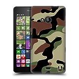 Head Case Designs Bosco Fantasia Militare Back Cover Protettiva Clicca e Metti per Microsoft Nokia Lumia 535,...