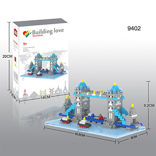 VXV Micro Blocks - Tower Bridge - London Bridge Parent-child Games Building Blocks Childrens Educational Toys - LOZ Nanoblock Compatible