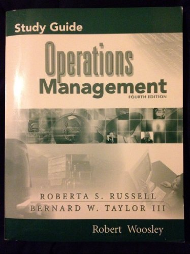 Study Guide to Accompany Operations Management, Fourth Edition