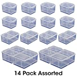 Connect-A-Box® 14 pc Assortment from Cottage Mills. Small item storage system that connects and stacks. Perfect for little things like beads, findings and parts. Includes 8 Small, 4 Medium and 2 Large.