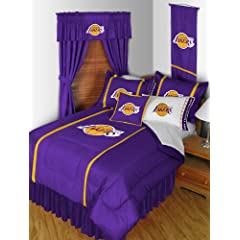 Los Angeles Lakers QUEEN Size 14 Pc Bedding Set (Comforter, Sheet Set, 2 Pillow... by Sports Coverage